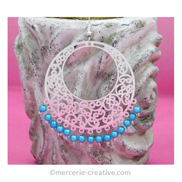 bijou artisanal estampe en metal argente